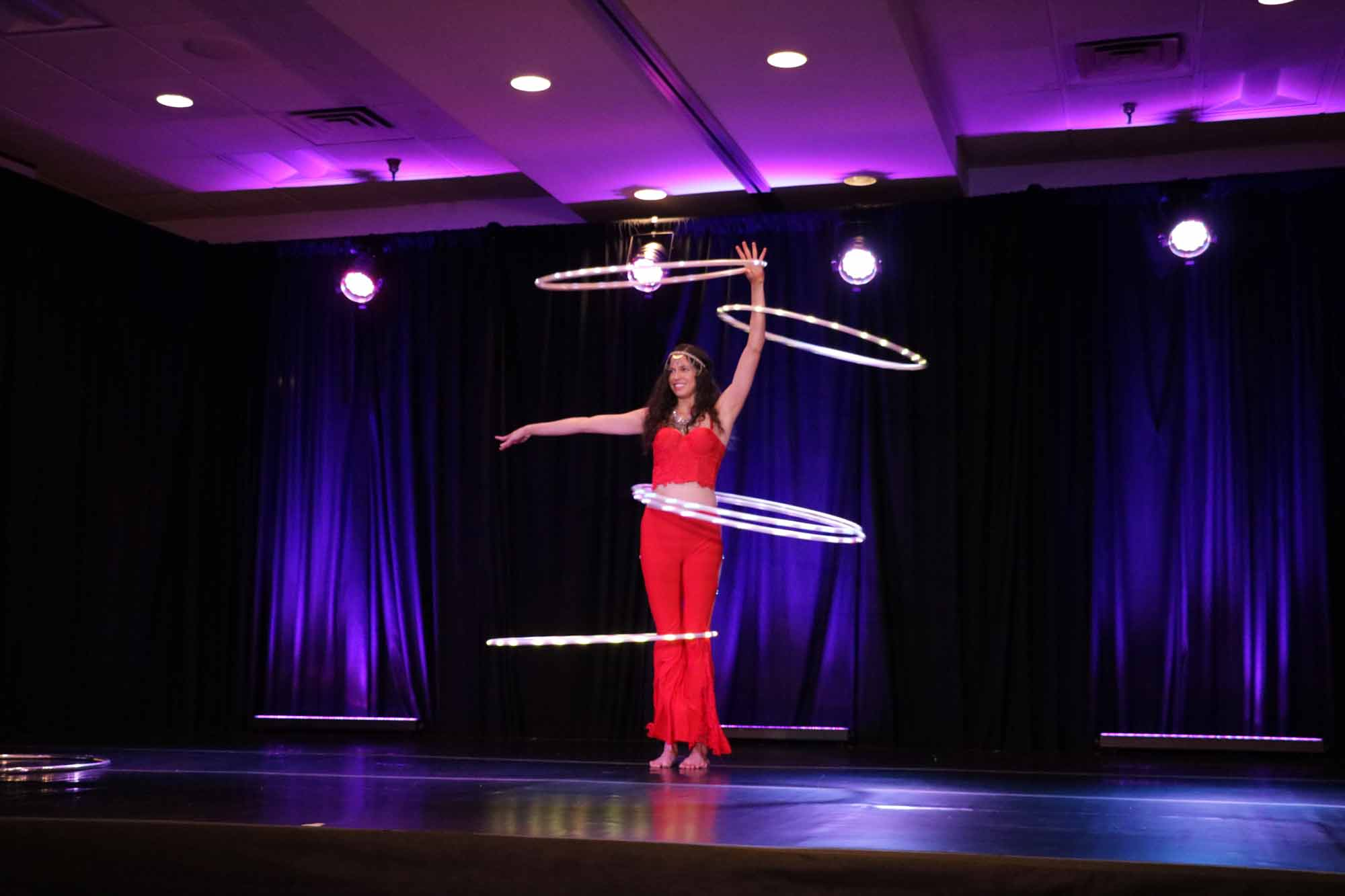 LED hula hooping